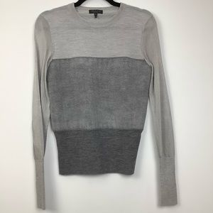 Rag & Bone Marissa Color Block Wool Sweater Grey